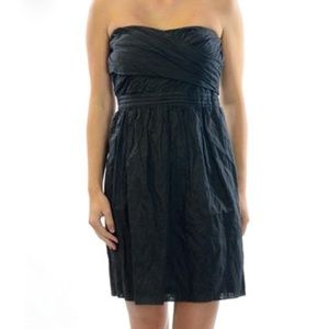 J. Crew Strapless Gray Crinkle Party Dress Size 0